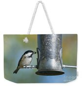 Coal Tit On Feeder Weekender Tote Bag