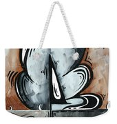 Coastal Art Contemporary Sailboat Painting Whimsical Design Afternoon Breeze By Madart Weekender Tote Bag