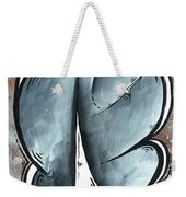 Coastal Art Contemporary Sailboat Painting Whimsical Design Shining Sea By Madart Weekender Tote Bag