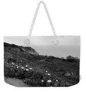 Coastal View Mist - Black And White Weekender Tote Bag