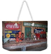 Coca Cola - Rexall - Ok Used Tires Signs And Other Antiques Weekender Tote Bag
