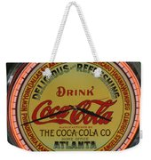 Coca Cola Clock Weekender Tote Bag