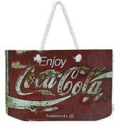 Coca Cola Green Red Grunge Sign Weekender Tote Bag