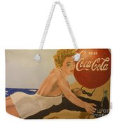 Coca Cola  Vintage Sign Weekender Tote Bag