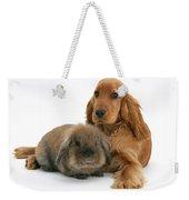 Cocker Spaniel And Rabbit Weekender Tote Bag