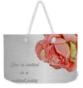 Cocktail Party Invitation - Fabric Rose Weekender Tote Bag