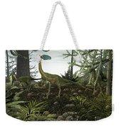 Coelophysis Dinosaurs Walk Amongst Weekender Tote Bag