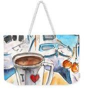 Coffee Break In Heraklion In Crete Weekender Tote Bag