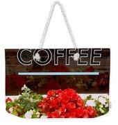 Coffee Weekender Tote Bag by Cynthia Amaral