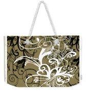 Coffee Flowers 1 Olive Scrapbook Weekender Tote Bag