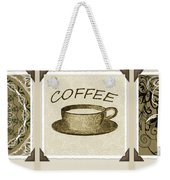 Coffee Flowers 1 Olive Scrapbook Triptych Weekender Tote Bag