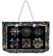 Coffee Flowers Ornate Medallions 6 Piece Collage Aurora Borealis Weekender Tote Bag