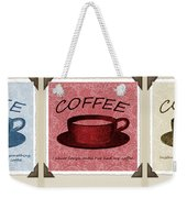 Coffee Flowers Scrapbook Triptych 1  Weekender Tote Bag