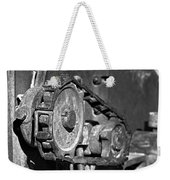 Cog And Chain In Rust Black And White Weekender Tote Bag