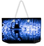 Cold Blue Led Lights Closeup Weekender Tote Bag