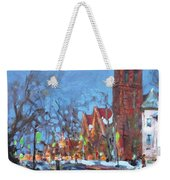 Cold Morning In Elmwood Ave  Weekender Tote Bag