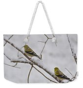 Cold Yellow Finch Walk Weekender Tote Bag