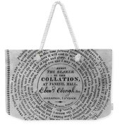 Collation Ticket, 1824 Weekender Tote Bag