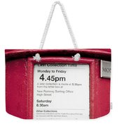 Collection Time 4.45 Pm Weekender Tote Bag