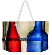 Collector - Bottles - Two Empty Wine Bottles  Weekender Tote Bag