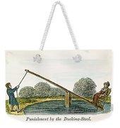 Colonial Ducking Stool Weekender Tote Bag