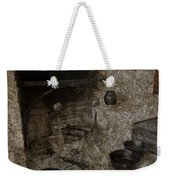 Colonial Fireplace Cooking Arrangement Weekender Tote Bag