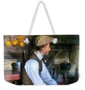 Colonial Man In Kitchen Weekender Tote Bag