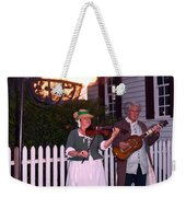 Colonial Musicians By Firelight Weekender Tote Bag