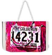 Color Run Number Weekender Tote Bag