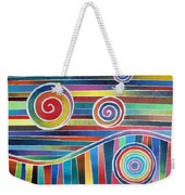 Color Wave And Suckers Weekender Tote Bag