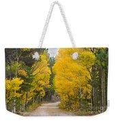 Colorado Autumn Aspen Road Boulder County Weekender Tote Bag