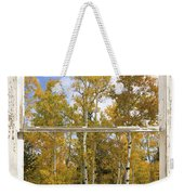 Colorado Autumn Aspens Picture Window View Weekender Tote Bag