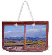 Colorado Country Red Rustic Picture Window Frame Photo Art Weekender Tote Bag