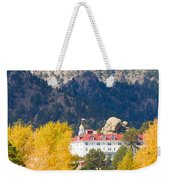 Colorado Estes Park Stanly Hotel Autumn View Weekender Tote Bag