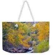 Colorado Rocky Mountain Autumn Canyon View Weekender Tote Bag