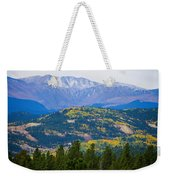 Colorado Rocky Mountain Autumn View Weekender Tote Bag