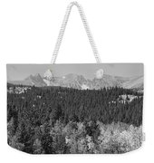 Colorado Rocky Mountain Continental Divide View Bw Weekender Tote Bag