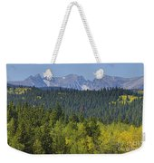 Colorado Rocky Mountain Continental Divide Autumn View Weekender Tote Bag