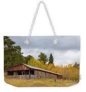 Colorado Rustic Autumn High Country Barn Weekender Tote Bag