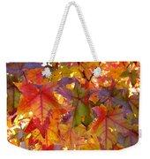 Colorful Autumn Leaves Art Prints Trees Weekender Tote Bag