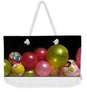 Colorful Balls In The Shop Window Weekender Tote Bag by Ausra Huntington nee Paulauskaite