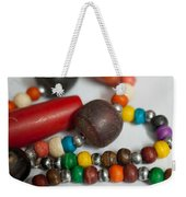 Colorful Beads In Chains Weekender Tote Bag