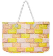 Colorful Brick Wall Weekender Tote Bag