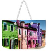 Colorful Burano Italy Weekender Tote Bag