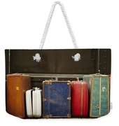 Colorful But Worn Luggage Awaits Weekender Tote Bag