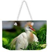 Colorful Cattle Egret Weekender Tote Bag