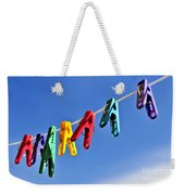 Colorful Clothes Pins Weekender Tote Bag by Elena Elisseeva