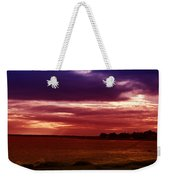 Colorful Clouds Over Ocean At Sunset Weekender Tote Bag