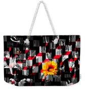 Colorful Cubed Beauty Weekender Tote Bag