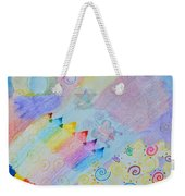 Colorful Doodling Original Art Weekender Tote Bag